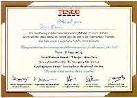 Tesco certificate